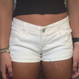 White Hollister Jean shorts